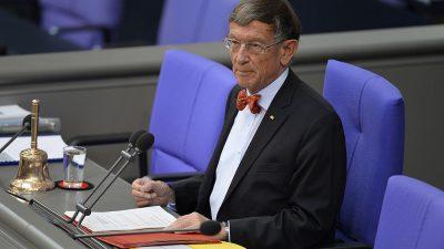 Riesenhuber kritisiert Zusammensetzung des Bundestags: Lehrer und Juristen überdurchschnittlich stark vertreten