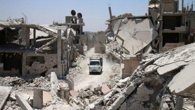 Westen lehnt Hilfe für Wiederaufbau Syriens ab: Nicht das Ende der Gewalt, sondern Regime-Change am wichtigsten