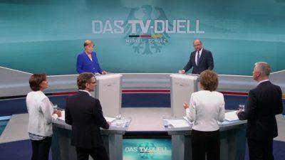 TV-Duell Merkel und Schulz: Schulz will härtere Haltung gegen Türkei als Merkel – Beide für lockere Abschiebepolitik