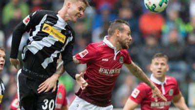 Hannover-Serie nach 1:2 in Mönchengladbach gerissen