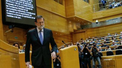 Spaniens Regierungschef Rajoy droht am Freitag Abwahl im Parlament
