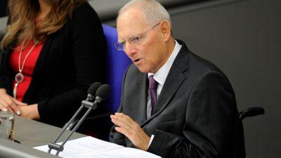Schäuble lehnt längere Legislaturperiode des Bundestages ab
