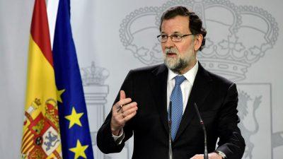 "Rajoy übernimmt Amtsgeschäfte Puigdemonts – Puigdemont soll wegen ""Rebellion"" angeklagt werden"