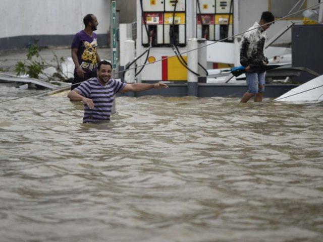 Hurrikan «Maria» war mit Windgeschwindigkeiten von bis zu 250 Stundenkilometern über Puerto Rico hinweggezogen. Foto: Carlos Giusti/dpa