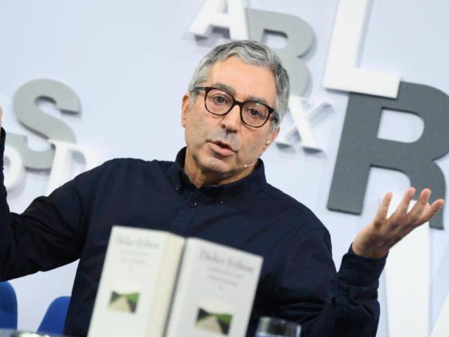 Der französische Autor Didier Eribon zu Gast auf der Messe. Foto: Arne Dedert/dpa