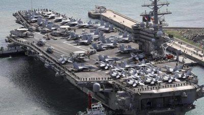 Sicherheit für Xi? – USA setzen Militärmanöver im ostchinesischen Meer nach Ende des Parteitags fort