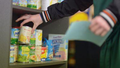 Zunehmende Nutzung von Lebenmittelstafeln in Großbritannien