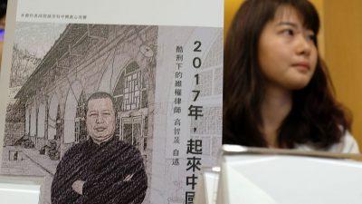 """""""Chinas Gewissen"""": Erneut Dunkelhaft für Menschenrechtsanwalt Gao Zhisheng"""