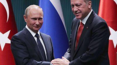 Putin empfängt Erdogan in Sotschi – Russland macht Druck für Syrienlösung