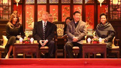 Teezeremonie, Pekingoper, Staatsbankett: Ehepaar Trump ist in China prunkvoll empfangen worden
