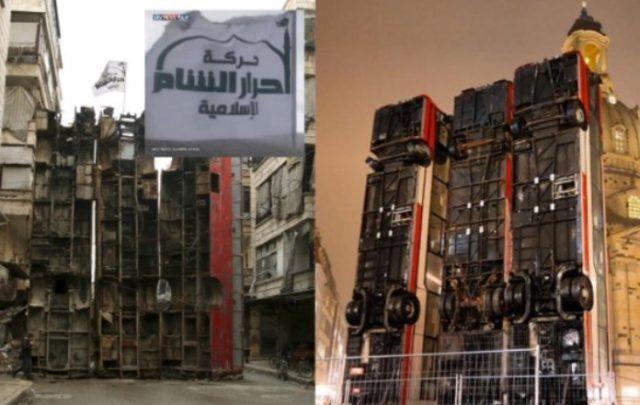 schrott busse nach dem vorbild von islamisten barrikade ab samstag zwei wochen am brandenburger tor. Black Bedroom Furniture Sets. Home Design Ideas