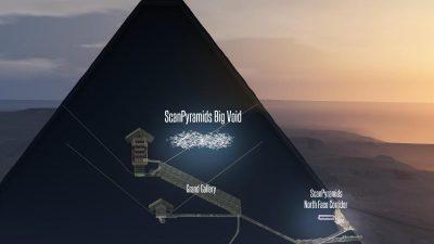 Cheops-Pyramide: Mittels Myonen neuen Hohlraum entdeckt