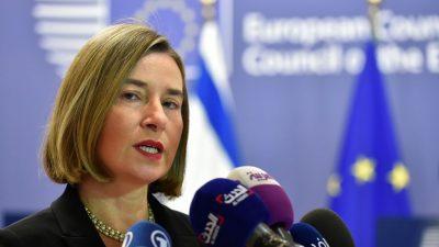 """EU hält Konflikt in Syrien nicht für beendet – Mogherini: """"Zivilisten werden weiterhin angegriffen"""""""