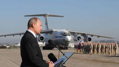 """Putin ordnet Teilabzug von russischer Armee aus Syrien an: """"Ihre Aufgabe ist im Wesentlichen erfüllt"""""""