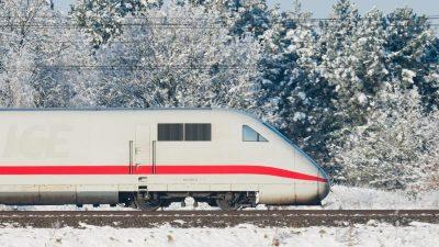 Wegen des Wetters:ICE-Zügefahren am Wochenende langsamer