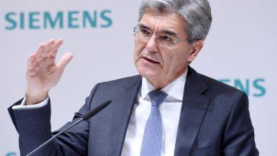 """""""Parteipolitik ohne Mandat"""": Aktionäre wollen Siemens-Chef Kaeser nach AfD-Kritik Zurückhaltung verordnen"""