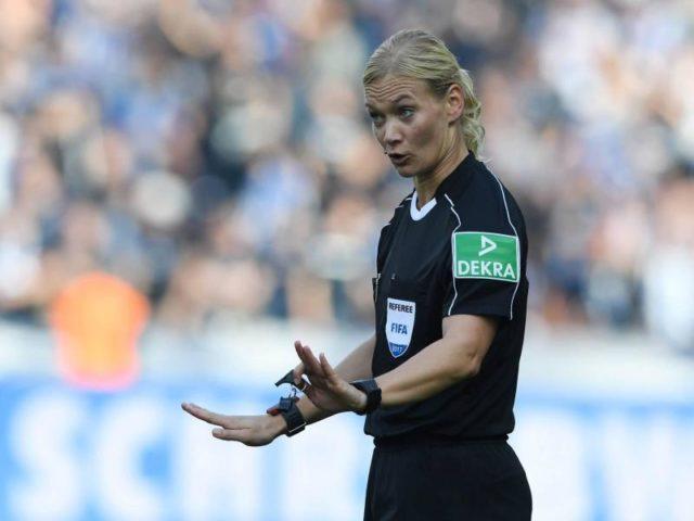 Bibiana Steinhaus wird die erste Schiedsrichterin in der Fußball-Bundesliga. Foto: Soeren Stache/dpa