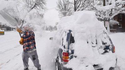 Zu Silvester: Kältewarnungen für 70 Millionen Amerikaner