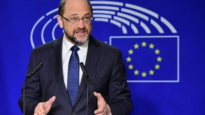 Schulz: Europapolitik soll im Mittelpunkt einer möglichen neuen GroKo stehen