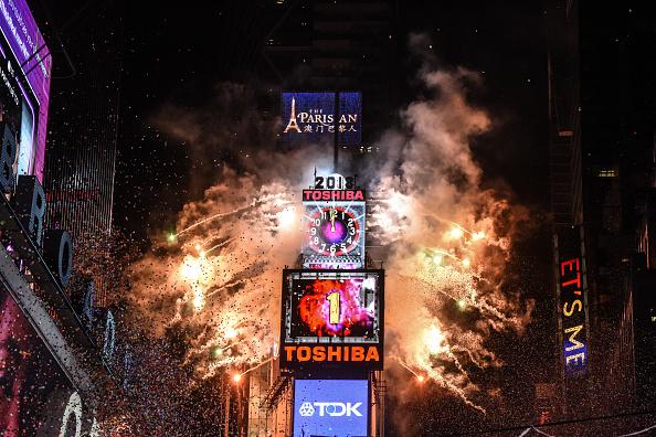 Zwei Millionen Menschen begrüßen neues Jahr am New Yorker Times Square