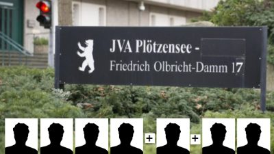 Berlin: Wieder zwei weg! – Erneuter Ausbruch aus der JVA Plötzensee – Immer noch keine Öffentlichkeitsfahndung