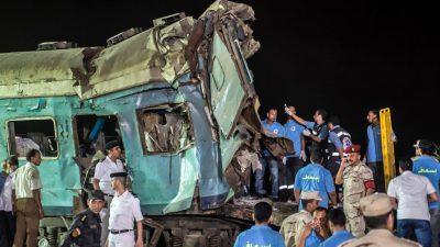 Ägypten: Mindestens 10 Tote bei Zusammenstoß zweier Züge