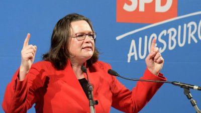 """Nahles verspricht Sozialdemokraten Neustart: """"Wir haben eine gute Regierungsmannschaft"""""""