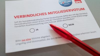 Unterlagen des SPD-Mitgliedervotums – Reinste GroKo-Werbung