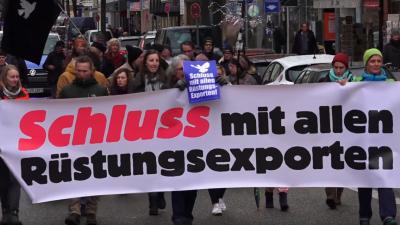 Ostermärsche in vielen Städten: Gegen Aufrüstung und Waffenexporte