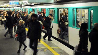 """60-Euro-Knöllchen für """"Falschgänger"""" in der Pariser Metro"""