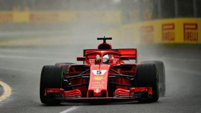 Formel 1: Drittes Freies Training – Vettel im Regen an der Spitze, Hamilton nur 8.