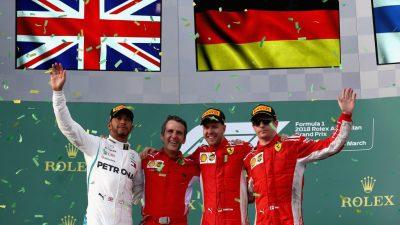 GP Australien: Vettel siegt vor Hamilton