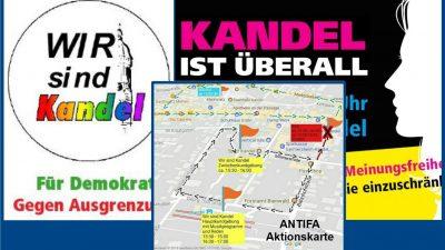 """Show-Down der Gegensätze: """"Kandel ist überall"""" trifft auf """"Wir sind Kandel"""", unterstützt von Landesregierung und Antifa"""