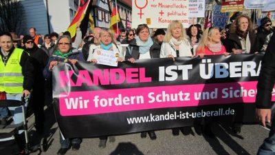 Zwei Demos in Kandel kurz vor Urteil in Mordprozess im LIVESTREAM