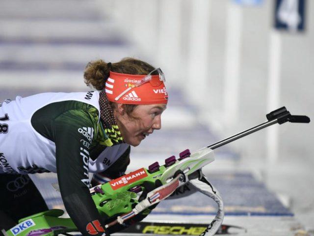 Laura Dahlmeier beendet das 7,5-Kilometer-Rennen in Kontiolathi auf Rang fünf. Foto:Martti Kainulainen/dpa