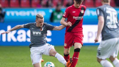 Bayer Leverkusen kommt gegen Augsburg nur zu einem Remis