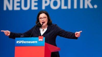 Nahles warnt die Union vor Abkehr von Europa-Plänen