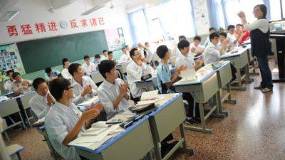 Oberschule in China überwacht mit Kameras zur Gesichtserkennung die Aufmerksamkeit von Schülern