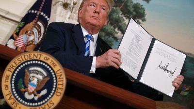 Iran-Atomabkommen: EU-Staaten hielten US-Zolldrohung geheim um Optik bei Streitschlichtung zu wahren