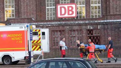 Flensburg: Messer-Attacke im IC – Verletzte Polizistin erschießt angreifenden Asylbewerber (24) – Zwei Fahrgäste schwer verletzt