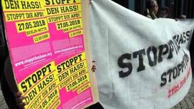 """Berliner Bündnis, Kirchen- und Islamverbände rufen zur Anti-AfD-Demo auf – David Berger: """"Geht es noch perverser?"""""""