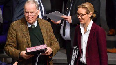 Pressekonferenz: Gauland und Weidel äußern sich zu Merkels Rückzug