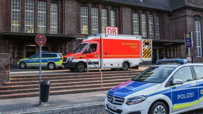 """""""Terror-Attacke"""" im Zug in Flensburg? Eritreer Mahmood J. stach zuerst Polizistin (22) hinterhältig Messer ins Gesicht, Passant (35) kam zu Hilfe"""