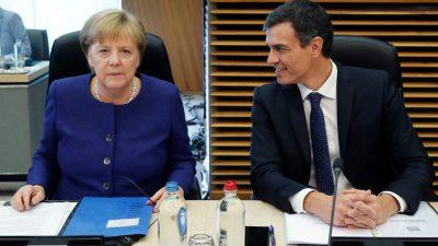 Merkel trifft sozialistischen Regierungschef Spaniens – Vorbereitung des EU-Gipfels um Migration, Sicherheit und Verteidigung