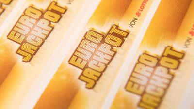 Eurojackpot mit 90 Millionen Euro erneut nicht geknackt