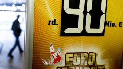 Eurojackpot weiter mit 90 Millionen Euro gefüllt