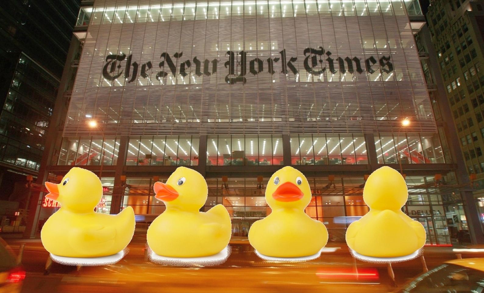 New York Times bei der Verbreitung von Fake News erwischt – Wie wird man eine Ente wieder los?