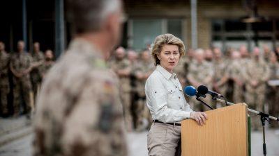 Von der Leyen zu Besuch bei Bundeswehr in Jordanien