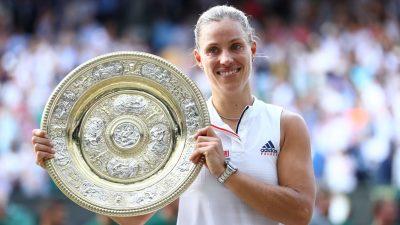 """Merkel gratuliert Angelique Kerber zu """"begeisterndem"""" Wimbledon-Sieg"""