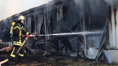 Haßmersheim: Großfeuer im Asylheim – Kein Hinweis auf Brandstiftung von außen – Polizei ermittelt